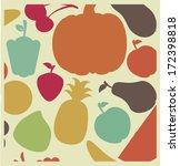 healthy design over beige ... | Shutterstock .eps vector #172398818