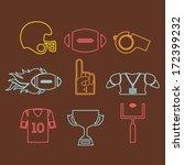 american football design over...   Shutterstock .eps vector #172399232