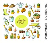garden set isolated elements... | Shutterstock .eps vector #1724003782