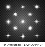 set of bright beautiful stars.... | Shutterstock .eps vector #1724004442