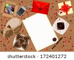abstract background with love...   Shutterstock .eps vector #172401272