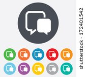 chat sign icon. speech bubbles... | Shutterstock .eps vector #172401542