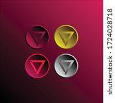 3d circle style seven 7 logo... | Shutterstock .eps vector #1724028718