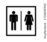 Man And Woman Icon Flat Vector...