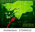 map of guinea bissau with... | Shutterstock . vector #172404212