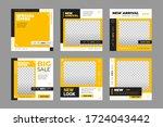 set of editable minimal square... | Shutterstock .eps vector #1724043442