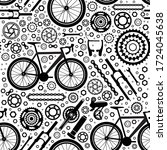 bicycles. seamless pattern of... | Shutterstock .eps vector #1724045638