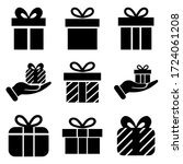 gift set icon  isolated on... | Shutterstock .eps vector #1724061208