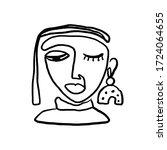 abstract woman portrait art ...   Shutterstock .eps vector #1724064655