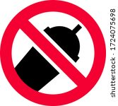 no plastic cup forbidden sign ... | Shutterstock .eps vector #1724075698