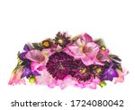 decoration of gladiolus and... | Shutterstock . vector #1724080042