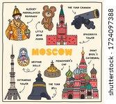 Moscow. Hand Drawn Illustration ...
