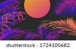 tropical summer sunset... | Shutterstock .eps vector #1724100682