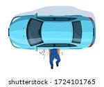 car repair semi flat rgb color... | Shutterstock .eps vector #1724101765