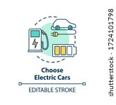 choose electric cars concept... | Shutterstock .eps vector #1724101798