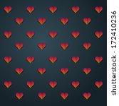 valentine's pattern | Shutterstock .eps vector #172410236
