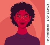 portrait of a happy african... | Shutterstock .eps vector #1724132425