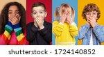 Collage Of Multiethnic Kids...