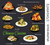 chinese cuisine traditional...   Shutterstock .eps vector #1724145472