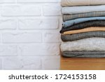 Stack Of Folded Casual Clothes...