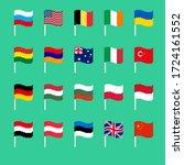 pixel flag set. pixelated... | Shutterstock . vector #1724161552
