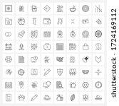 mobile ui line icon set of 64...