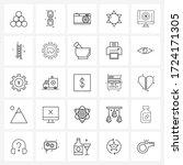 set of 25 modern line icons of... | Shutterstock .eps vector #1724171305