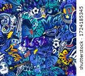 abstract seamless graffiti... | Shutterstock .eps vector #1724185345