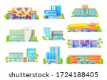 hotel and casino buildings ... | Shutterstock .eps vector #1724188405