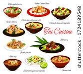 thai cuisine meals  traditional ... | Shutterstock .eps vector #1724189548