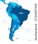 south america map   green hue... | Shutterstock .eps vector #1724207245
