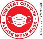 please wear medical mask... | Shutterstock .eps vector #1724230498