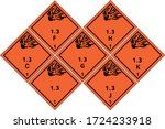 explosives warning sign ... | Shutterstock .eps vector #1724233918