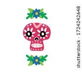 mexican skull. symbol mexico.... | Shutterstock .eps vector #1724242648