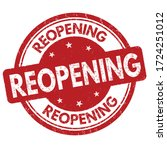 reopening sign or stamp on... | Shutterstock .eps vector #1724251012