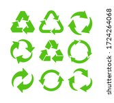 collection of green recycle... | Shutterstock .eps vector #1724264068