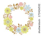 flower wreath frame floral...   Shutterstock .eps vector #172426532