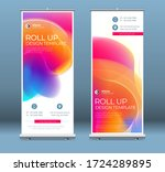 roll up banner stand... | Shutterstock .eps vector #1724289895