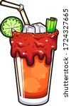 cartoon mexican bloody mary... | Shutterstock .eps vector #1724327665