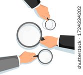 hands holding magnifying glass. ... | Shutterstock .eps vector #1724334202