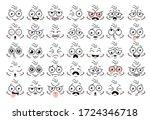 cartoon face eye. funny face... | Shutterstock .eps vector #1724346718