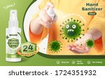 ad template of hand sanitizer... | Shutterstock .eps vector #1724351932
