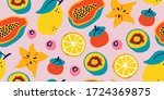 vector seamless pattern with... | Shutterstock .eps vector #1724369875