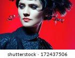 studio shot of sexy fashion... | Shutterstock . vector #172437506