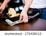 coffee shop  server picking up...   Shutterstock . vector #172438112