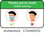 please put on a mask before... | Shutterstock .eps vector #1724404552