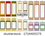 beautiful hanging scroll design ... | Shutterstock .eps vector #1724405275