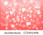valentine's day pink hearts... | Shutterstock . vector #172441496