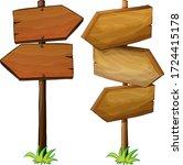vector direction directions for ... | Shutterstock .eps vector #1724415178