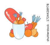 vector flat illustration of... | Shutterstock .eps vector #1724428978